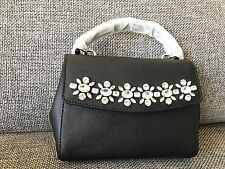 909e96c5a9ac ... shop nwt in package michael kors jewel crystal mini xs ava crossbody  bag black silver .