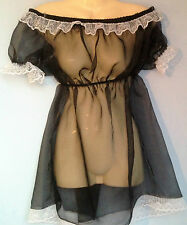 Organza robe bébé adulte robe fantaisie sissy maid Fetish français tube boob 8-22