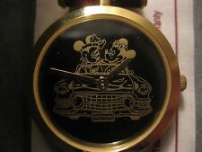 Classic Mickey & Minnie Mouse Leather Band Watch From Pedre For Disney       w08