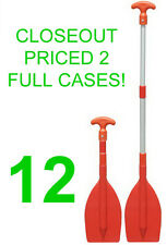 "CLOSEOUT! 12 NEW SEASENSE TELESCOPING SAFETY PADDLES,22-42"" OAR,KAYAK/CANOE/BOAT"