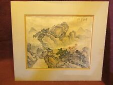Old or Antique Chinese Painting on Silk Artist Signed
