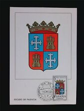 SPAIN MK 1965 ESCUDO PALENCIA WAPPEN BLAZON MAXIMUMKARTE MAXIMUM CARD MC c5972