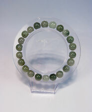 Natural Grade A  light green  jade 4 mm beaded stretchy bracele