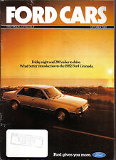 Ford Cars October 1981 Fiesta Escort Cortina Capri Granada Original UK Brochure