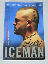 CHUCK 'Iceman' LIDDELL  Hand Signed Auto Biography Book + Photo Proof