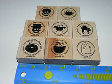 Stampin Up Batty for You Stamp Set of 8 Halloween Bat Spider Ghost Black Cat