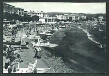 Diano Marina ( Imperia ) : La spiaggia - cartolina non viaggiata anni '60