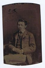 TINTYPE Photograph Victorian Gentleman Seated