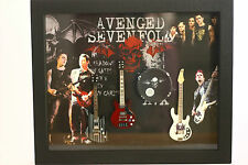 RGM8803 Avenged Sevenfold Miniature Guitars in Shadowbox Frame