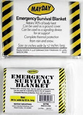 "NEW Mylar Emergency Survival Blanket MAYDAY 84''x 52""- Military Solar Space Bag"
