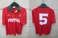 VINTAGE Maillot PORTUGAL n°5 Saillev jersey football collection shirt camiseta L