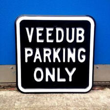 Volkswagen VW Heavy Duty Embossed Metal Outdoor Steel Parking Only Sign 50801