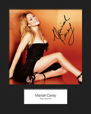 MARIAH CAREY #5 10x8 SIGNED Mounted Photo Print - FREE DELIVERY