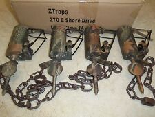 4  Camo Z-Trap Dog Proof Push Pull Crossfire Trigger Traps Trapping