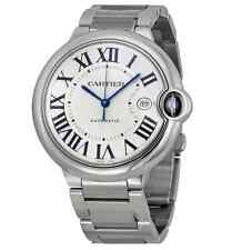 Cartier Ballon Bleu W69012Z4 Polished Stainless Steel Watch 42mm Large Size