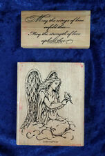 Stampin Up! Elegant Angel 2 Large Stamp Set Wings of Love Enfold Thee 1999