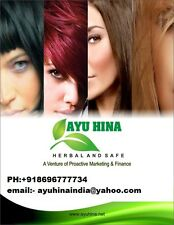 AYU HINA 40gms of 10  Packets heena,black mehendi,henna,Natural hair color,