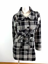 POETRY CLOTHING WOMENS SIZE L BLACK & WHITE TWEED COAT SUPER CUTE!
