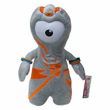 OLYMPICS London 2012 Wenlock Silver Orange Weighted Plush Toy Memorabilia 30 cm