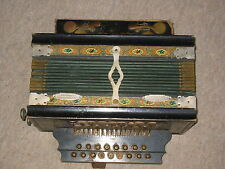 "Interesting, very old  2 row  diatonic button accordion  ""Friedrich Gessner"""