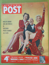 MARILYN MONROE JANE RUSSELL Original British Magazine PICTURE POST 1954  Vtg