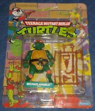 1988 ORIGINAL MIKE MINT ON FRENCH CARD MOC TEENAGE MUTANT NINJA TURTLES TMNT