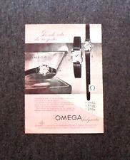L560- Advertising Pubblicità -1957- OMEGA , LADYMATIC , PRENDE VITA DA UN GESTO