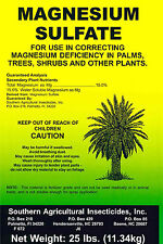 Magnesium Sulfate 25lb Corrects Magnesium Deficiency in Plants Stops Yellowing