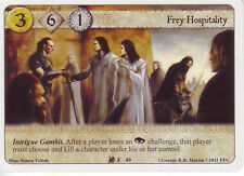 3 x Frey Hospitality AGoT LCG 1.0 Game of Thrones Lions of the Rock 49