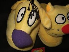 Nwt Women's Lg 9-10 Cat Dog Nickelodeon Cartoon Character Plush Slippers Catdog