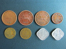 1 PICE(PAISE) 8 DIFFERENT YEAR COINS....BRONZE,NICKEL BRASS,ALUMINIUM