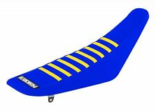 SUZUKI RMZ 450 2008-2016 ENJOY SEAT COVER Blue sides, blue top, yellow ribs