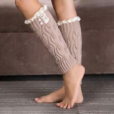 Baby Kids Girls Leg Warmers Crochet Knitted Leaf Lace Socks For 4-6 Years Old