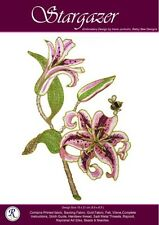 Stargazer Lily embroidery kit - Irene Junkuhn - Rajmahal art silk thread