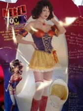 HALLOWEEN COSTUME SNOW WHITE ADULT WOMEN'S LARGE 10-12 REBEL TOONS FAIRY TALE