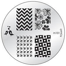 Original Konad Stamping Schablone M101 für Nailart und Nageldesign