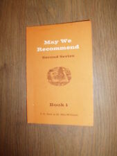 *MAY WE RECOMMEND, 2ND SERIES, SIX RADIO PLAYS by G.BALL & M.MACWILLIAM*UK £3.25