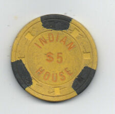 Old 5 Dollar Poker Chip from the Indian House Casino