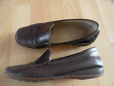 GEOX schöne Slippers Mokassins braun Gr. 37,5 BE3