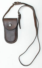 Swiss Army Leather pouch with shoulder strap dated 1939