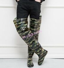 80 cm high mens sneakers rubber long rain boots thigh boots work shoes chic hot