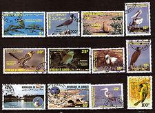 DJIBOUTI  Oiseaux-Birds: Goéland,Pélican,Spatule,Héron  1m444