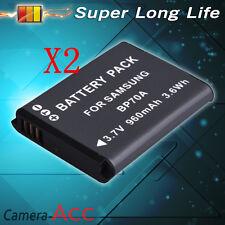 2X Battery for Samsung BP-70A ES73 ES74 PL80 PL100 Camera