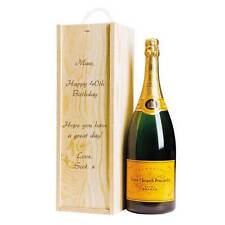 Personalised Wooden any age Happy Birthday Champagne / Wine Box with Rope Handle
