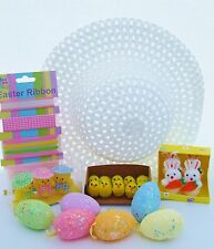 Decorate & Make your Own Easter Bonnet kit with Chicks Eggs & Bunnies Girl Kids