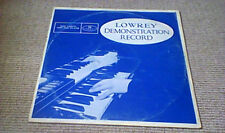 JERRY ALLEN LOWREY DEMONSTRATION RECORD PRIVATE PRESS UK LP 1969 LOWREY ORGANS