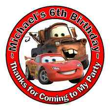 24 DISNEY PIXAR CARS BIRTHDAY THANK YOU FOR COMING PARTY STICKERS FAVORS
