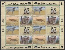 UNO Wien 1993 ** Mi.143/46 Tiere Animals Pinguine Penguins Zebra Wolf [sr2011]