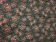 Faux Silk BROCADE Fabric Burgundy Mums Floral 1/4 yard remnant