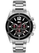 NEW Lacoste 2010644 Seattle Men's Silver Stainless Steel watch
